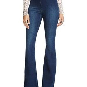 Free People Penny Pull On Flare Rich Blue Jeans 26